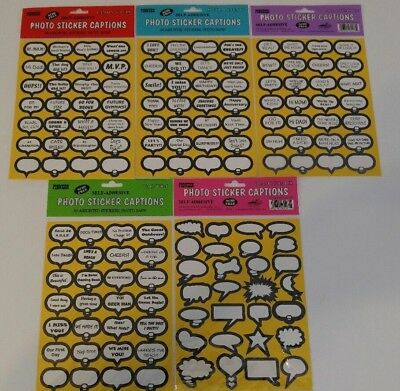 Lot of 5 packages pioneer photo sticker captions new
