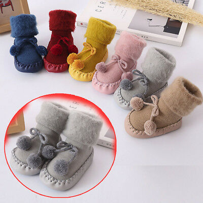 Newborn Infant Girls Cotton Floor Socks Anti-Slip Baby's Step Socks 0-24Months
