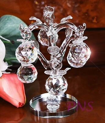 Crystal Cut Cherry Tree  Grapes Home Decor Wedding Christmas Gift & Gift Box