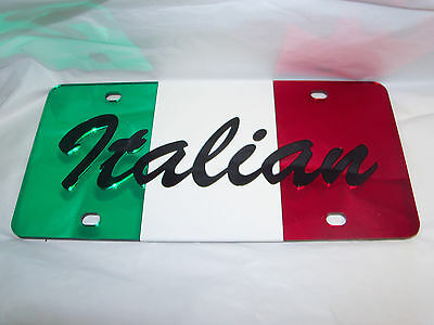 Italy ,Italian Flag  License Plate Color's - Red/White/green/Black Brand NEW!!