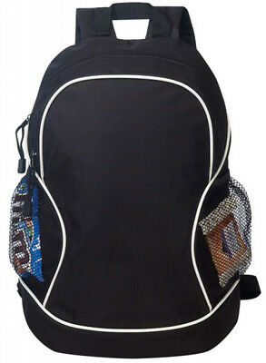 """Poly Backpack Bags Black Wholesale Lot Case Of 24 New 11.5"""" Rucksack"""