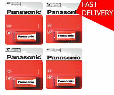 4x 9V Panasonic Heavy Duty Genuine Zinc Carbon 6F22 Block Batteries - NEW