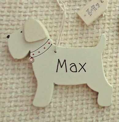 personalised Christmas shabby chic Dog ornament   decoration by East of India