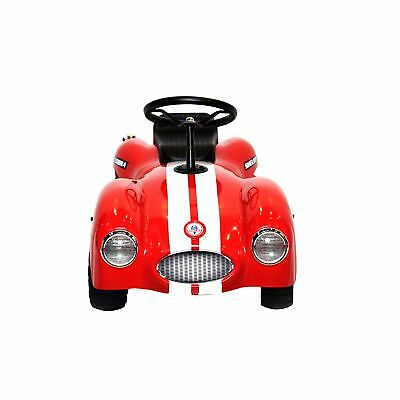 Kidmotorz Shelby Cobra Licensed Vintage Stamped Steel Foot To Floor Ride On Red