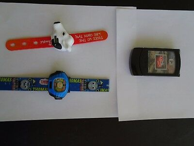 Used Kids Thomas The Train Watch, Chick Fil A Watch, and Disney Cars Kids Phone