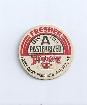 """Pierce Dairy Products""  Buffalo, N.Y.  milk bottle cap."