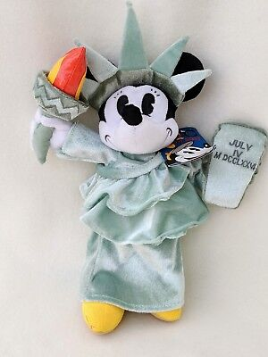 Statue of Liberty Minnie Mouse Plush Disney New York Cuddly Soft Toy Teddy Tag