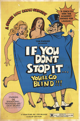 If You Don't Stop It… You'll Go Blind!!! 1975 25x38 Orig Movie Poster