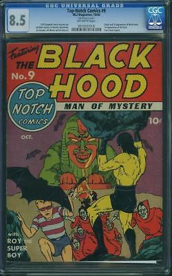 TOP NOTCH COMICS #9 cgc 8.5 1st blackhood
