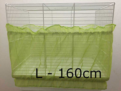 Bird cage tidy, cage seed catcher guard pile fabric Green Large 160cm