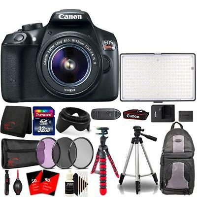 Canon EOS Rebel T6 DSLR with 18-55mm Lens , 288 LED Light and Accessory Bundle