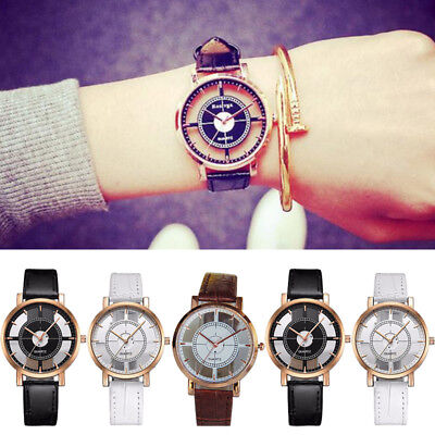 New Fashion Womens Leather Dial Quartz Wrist Watch Ladies Casual Dress Watches