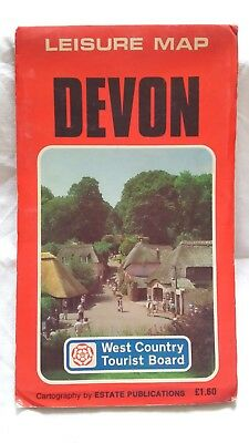 Devon - Leisure Map, West Country Tourist Board. By Estate Publications