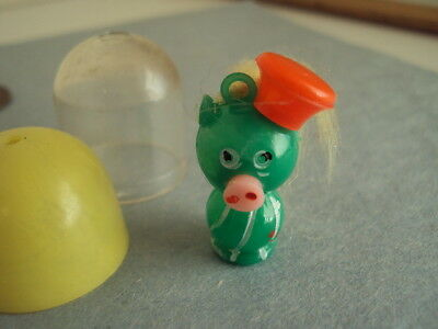 Vtg Gumball Charm Rare PENNY KING cute pig with hair vending Cracker Jack  toy