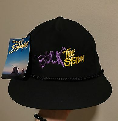 NWT Vintage 90s Buck The System Western Signatures Country Rope Snapback Hat