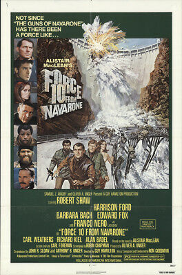 Force 10 From Navarone 1978 27x41 Orig Movie Poster FFF-18399 Fine, Very Good