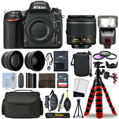 Nikon D750 DSLR Camera with 18-55mm VR + 16GB 3 Lens Ultimate Accessory Kit