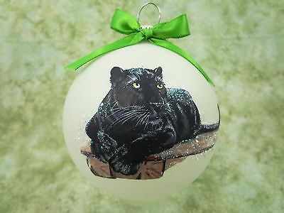 W004 Hand-made Christmas Ornament - Black panther  - Charlie Valley of the Kings