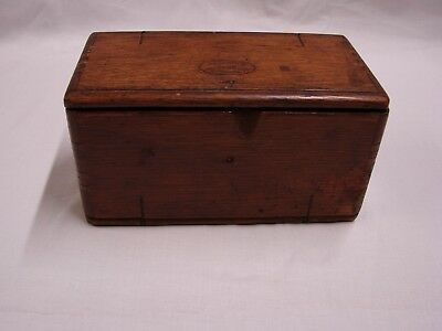 Vintage 1889 Oak Wood Sewing Machine Puzzle Box With Sewing Machine Accessories