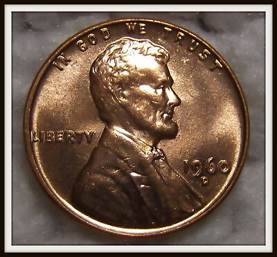 1960-D 1C RD Small Date Lincoln Cent (BU)