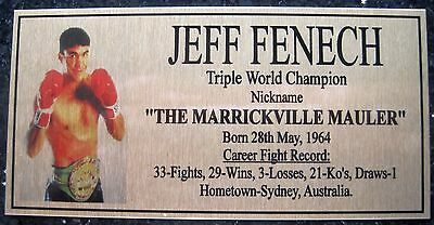 """JEFF FENECH Boxing Champions Gold  Photo Plaque """"FREE POSTAGE"""""""