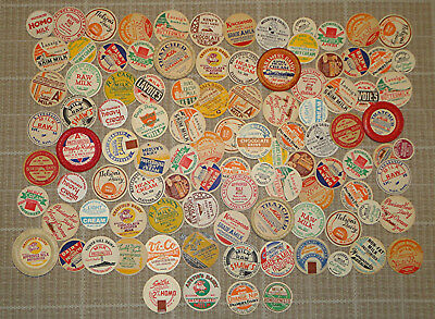 Lot of 101 Old Vintage Milk Dairy Bottle Caps