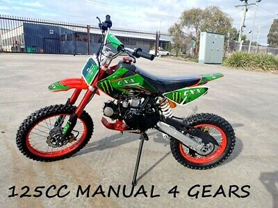 Bigfoot 125Cc Pit Motor Dirt Bike Trail Motocross Terrain Pro Kickstart Red