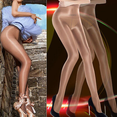 US Women Classic Hottest Sheer Sexy Shiny Glossy Stocking Oil Pantyhose Tights #