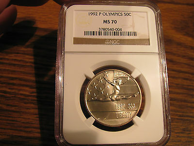 """1992-P """"OLYMPIC"""" Games Of The XXV HALF $1 NGC MS70 PERFECT!!"""