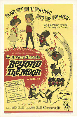 Gulliver's Travels Beyond the Moon 1966 27x41 Orig Movie Poster FFF-24085