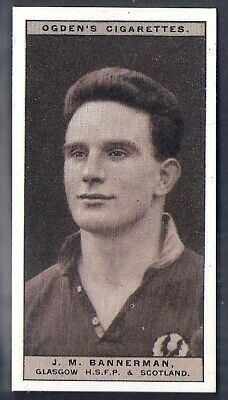 Ogdens-Famous Rugby Players-#16- Glasgow - Bannerman
