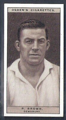 Ogdens-Famous Rugby Players-#28- Dewsbury - Brown