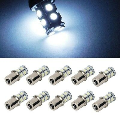 10X White 1156 BA15S 5050 LED RV Camper Trailer 1141 Interior Light Bulb 13SMD