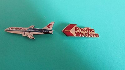 2 Pacific Western Airlines Pins