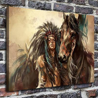 Women and horses Paintings HD Print on Canvas Home Decor Wall Art Pictures