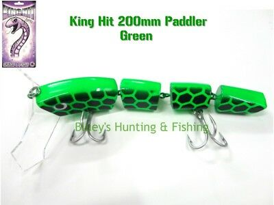 King Hit Lures Paddler 200mm Fishing surface Cod Lure; Green