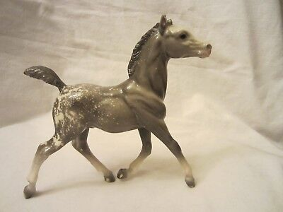 Breyer Molding Co Gray Grey White Plastic Standing Foal Horse Pony Animal 7x7