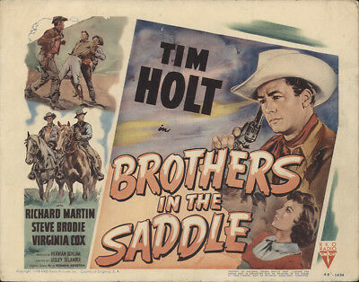 Brothers in the Saddle 1948 11x14 Orig Lobby Card FFF-28801 Tim Holt Western