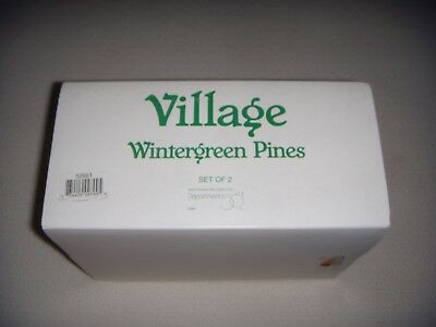 NEW Department 56 Snow Village Wintergreen Pines - Set of 2 Ceramic Trees  52661