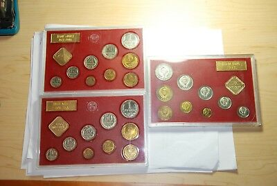3 Sets - 1978 Russian Leningrad Mint Set Of Coins Of The Ussr