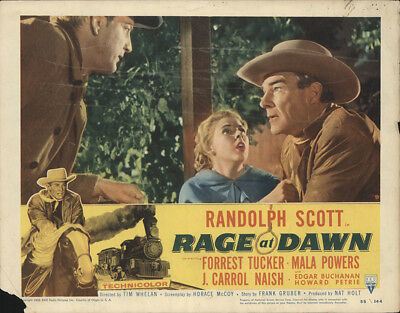 Rage at Dawn 1955 11x14 Orig Lobby Card FFF-28409 Randolph Scott Western