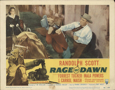 Rage at Dawn 1955 11x14 Orig Lobby Card FFF-28405 Randolph Scott Western