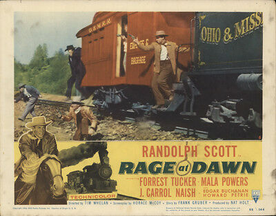 Rage at Dawn 1955 11x14 Orig Lobby Card FFF-28404 Randolph Scott Western