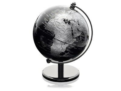 F.Hinds Black Desk Globe World Map Planet Earth Geography Atlas Rotating Gift