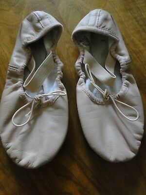 Girls Bloch Leather Pink Ballet Shoes Cotton Lining Size 1.5 D - EUC