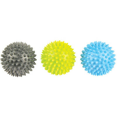 Fitness Mad Spikey Ball Set Unisex Sports Recovery Massage Tool - Blue Green