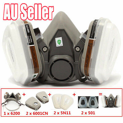 7 in 1  6200 Suit Respirator Painting Spraying Face Gas Mask 5N11 501 Medium SN