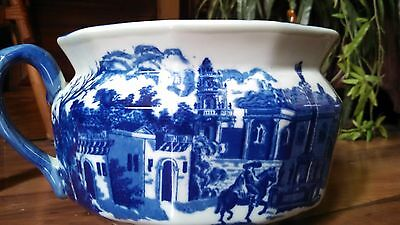ANTIQUE 1800's geniune Staffordshire Porcelain CHAMBER POT - Planter Vase BOWL