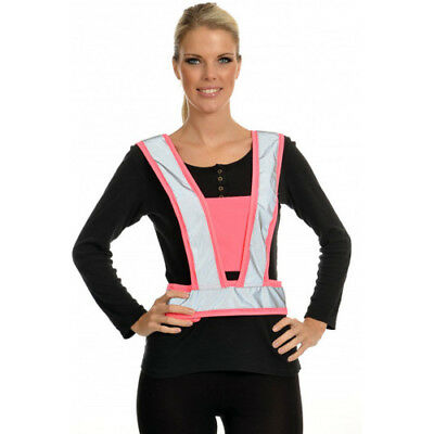 Equisafety Lightweight Body Unisex Safety Wear Reflective Harness - Pink