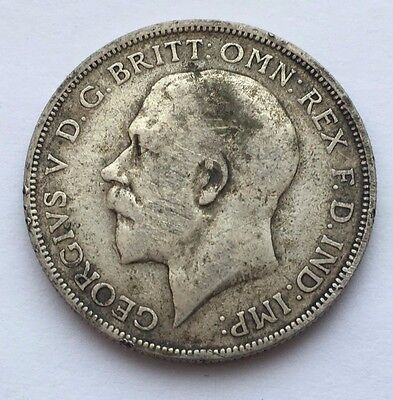 1920 Great Britain Silver Florin Two Shilling Coin Free Shipping
